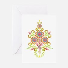 Formal Tole Flowers Greeting Cards (Pk of 10)