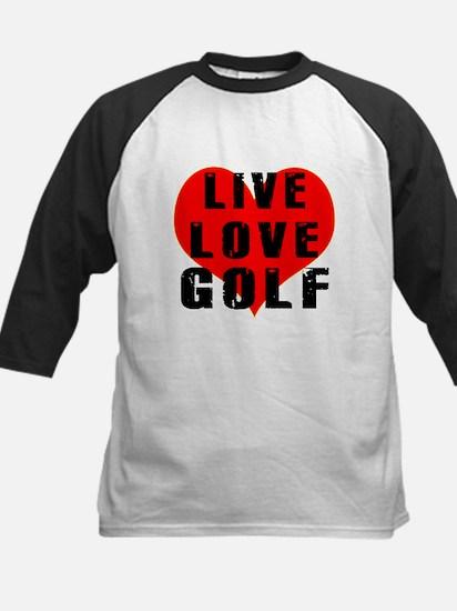 Live Love Golf Kids Baseball Jersey