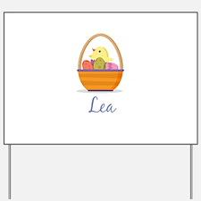 Easter Basket Lea Yard Sign