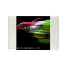 Porsche Race Rectangle Magnet