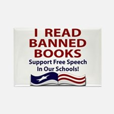 Cute Book banning Rectangle Magnet