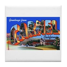 Carmel California Greetings Tile Coaster