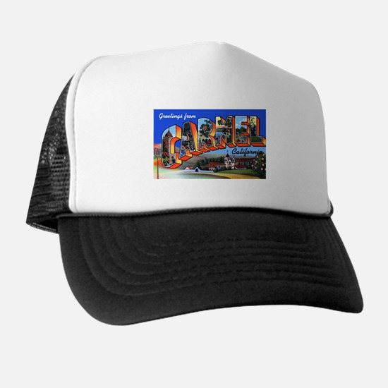 Carmel California Greetings Trucker Hat