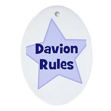 Davion Rules Oval Ornament