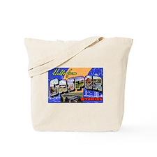Casper Wyoming Greetings Tote Bag
