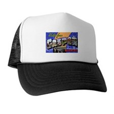 Casper Wyoming Greetings Trucker Hat