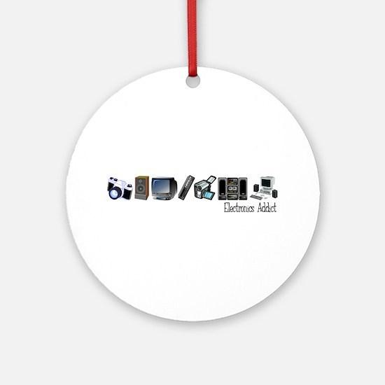 Electronics Addict Ornament (Round)