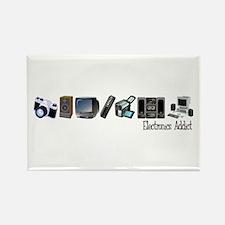 Electronics Addict Rectangle Magnet