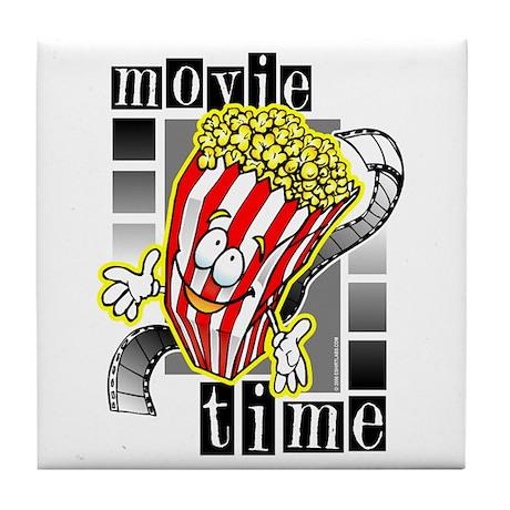 Movie Time @ eShirtLabs.Com Tile Coaster