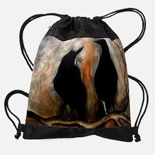 Black Birds Drawstring Bag