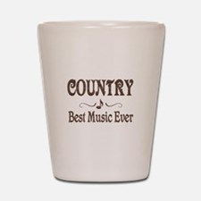 Country Best Music Shot Glass