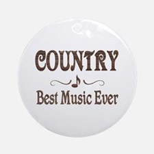 Country Best Music Ornament (Round)