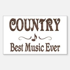 Country Best Music Decal