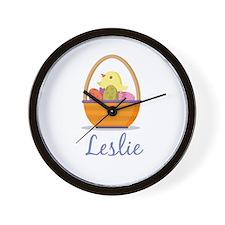 Easter Basket Leslie Wall Clock