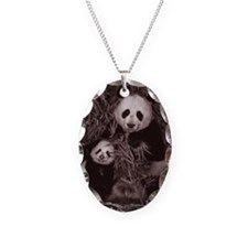 China, Sichuan, giant panda (A Necklace Oval Charm