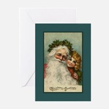 Santa and Child Greeting Cards (10 Pk)
