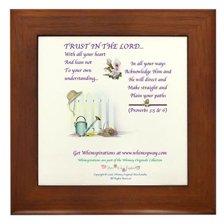 Trust In The Lord3 Framed Tile