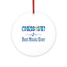 Christian Best Music Ornament (Round)