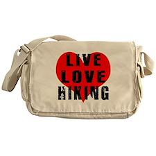 Live Love Hiking Messenger Bag