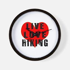 Live Love Hiking Wall Clock