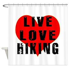 Live Love Hiking Shower Curtain