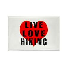 Live Love Hiking Rectangle Magnet