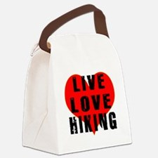 Live Love Hiking Canvas Lunch Bag