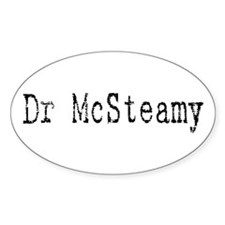 Dr. McSteamy Oval Decal