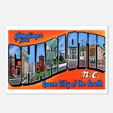 Charlotte North Carolina Greetings Postcards (Pack