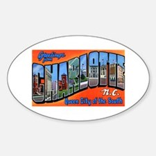 Charlotte North Carolina Greetings Oval Decal