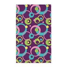 Funky Purple Circles 3'x5' Area Rug