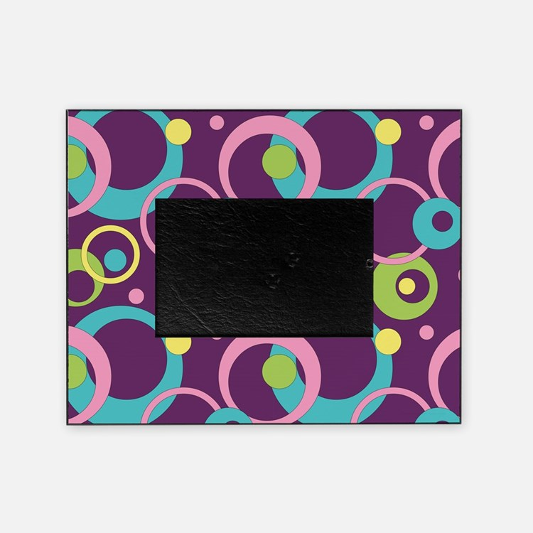 Funky Purple Circles Picture Frame
