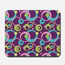 Funky Purple Circles Mousepad