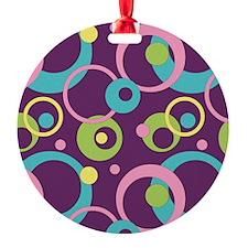 Funky Purple Circles Ornament
