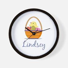 Easter Basket Lindsey Wall Clock