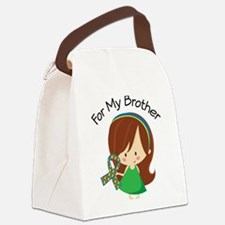 Autism For My Brother Canvas Lunch Bag