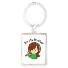 Autism For My Brother Portrait Keychain