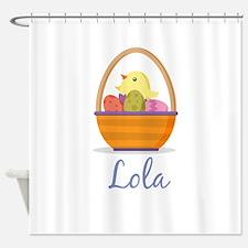 Easter Basket Lola Shower Curtain