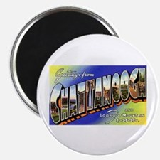 """Chattanooga Tennessee Greetings 2.25"""" Magnet (10 p"""