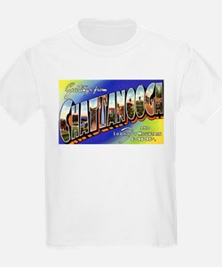 Chattanooga Tennessee Greetings (Front) Kids T-Shi