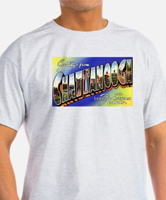 Chattanooga Tennessee Greetings (Front) Ash Grey T