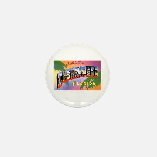 Clearwater Florida Greetings Mini Button