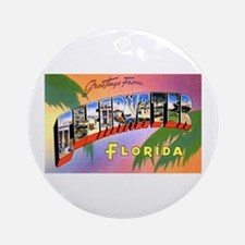 Clearwater Florida Greetings Ornament (Round)