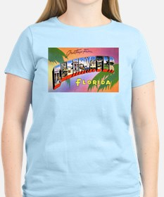 Clearwater Florida Greetings (Front) Women's Pink