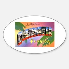 Clearwater Florida Greetings Oval Decal