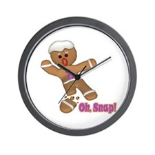 Oh Snap Gingerbread Cookie Wall Clock