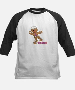 Oh Snap Gingerbread Cookie Kids Baseball Jersey