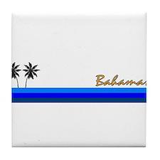 Cool Bahamas vacation Tile Coaster