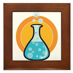 Science Beaker Framed Tile
