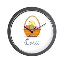 Easter Basket Lorie Wall Clock